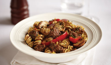 Pasta With Diced Beef
