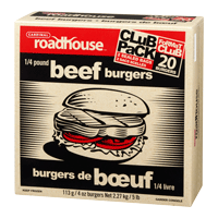 Burgers de Bœuf Roadhouse 1/4lb